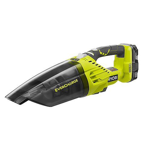 18V ONE+ Lithium-Ion Cordless EVERCHARGE Hand Vacuum Kit w/1.3 Ah Compact Battery and Wall Adaptor/Charger