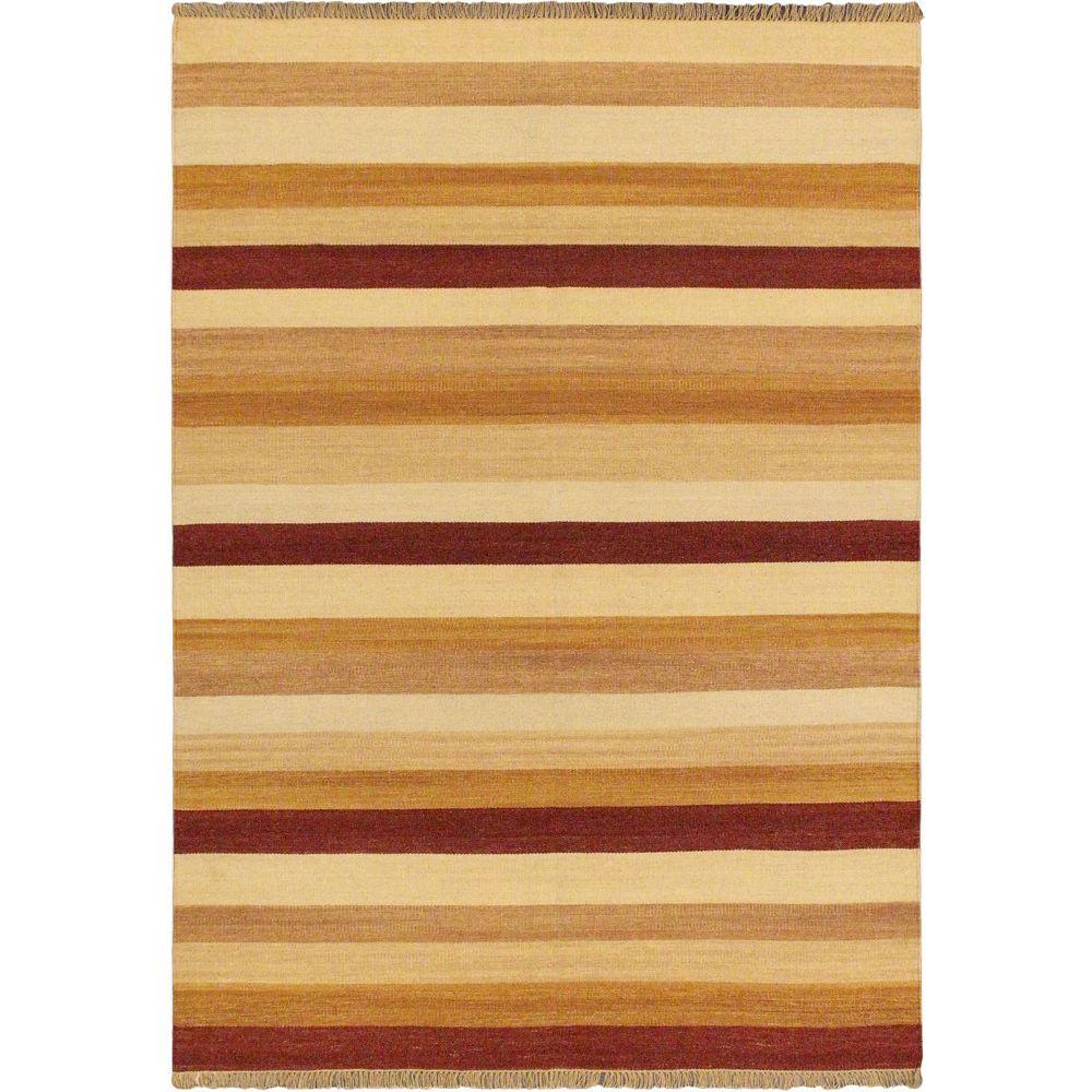 ECARPETGALLERY Carpette d'intérieur, 5 pi 7 po x 7 pi 10 po, style transitionnel, rectangulaire, orange Fiesta