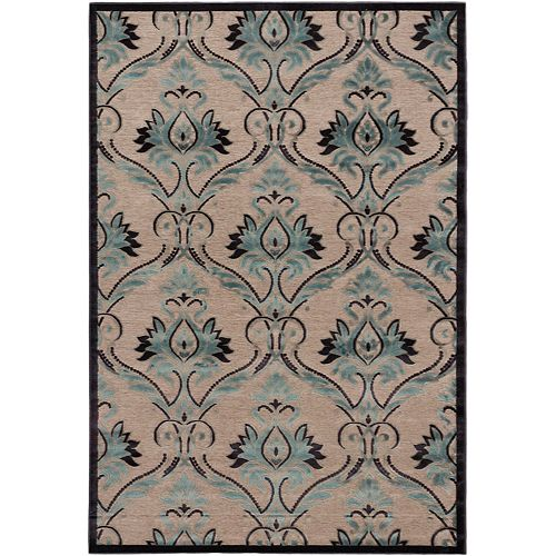 ECARPETGALLERY Alhambra Blue 5 ft. 3-inch x 7 ft. 6-inch Indoor Contemporary Rectangular Area Rug