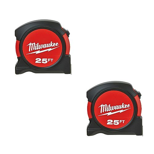 Milwaukee 2pk 25 ft. Tape Measure Special Buy