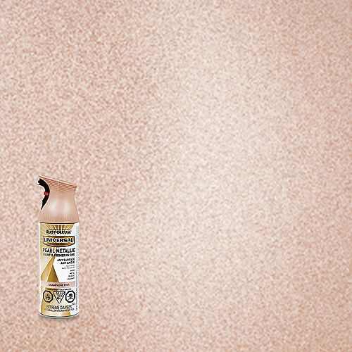 Rust-Oleum Universal Pearl Metallic Spray Paint And Primer in One in Champagne Pink, 340 G Aerosol