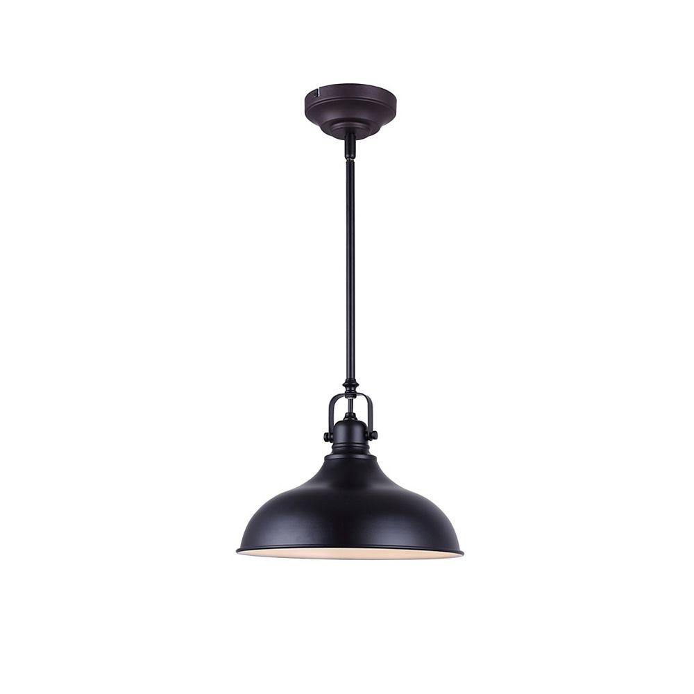 Canarm Sussex 1 Light Black Integrated Led Pendant Light Fixture The Home Depot Canada
