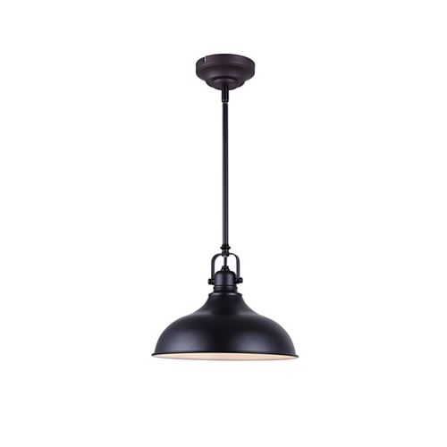 Sussex 1-Light Black Integrated LED Pendant Light Fixture