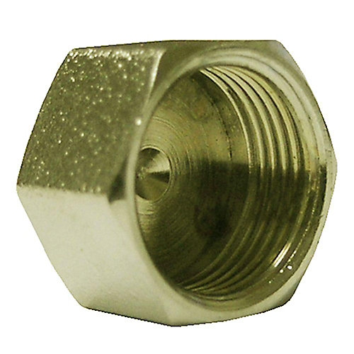 Cap 5/8 inch Outside Diameter Compression Brass No Lead 1/Bg