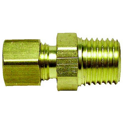 3/8 Compression Adapter X 1/2 inch MIP Lead Free