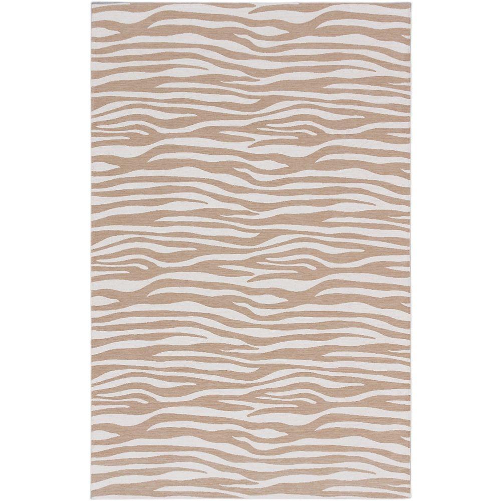 ECARPETGALLERY Carpette, 5 pi x 8 pi, rectangulaire, havane Portico