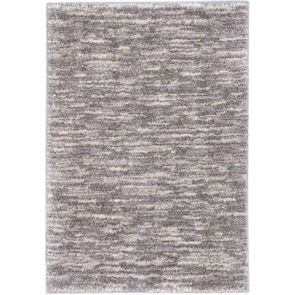 ECARPETGALLERY Yeti Grey 3 ft. 10-inch x 5 ft. 7-inch Rectangular Area Rug