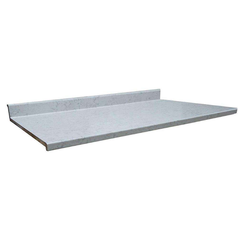Belanger Laminates Inc Revêtement de comptoir de cuisine, modèle 6314-43, profil 2700, 25 ½ po x 72 po, fini Neo Cloud