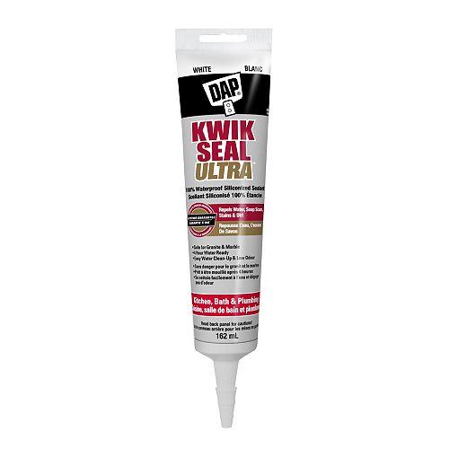 Kwik Seal Ultra Premium Siliconized Sealant - White - 162 ml (Squeeze Tube)