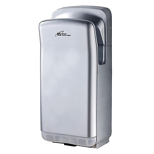 Vertical Touchless Electric Hand Dryer in Silver