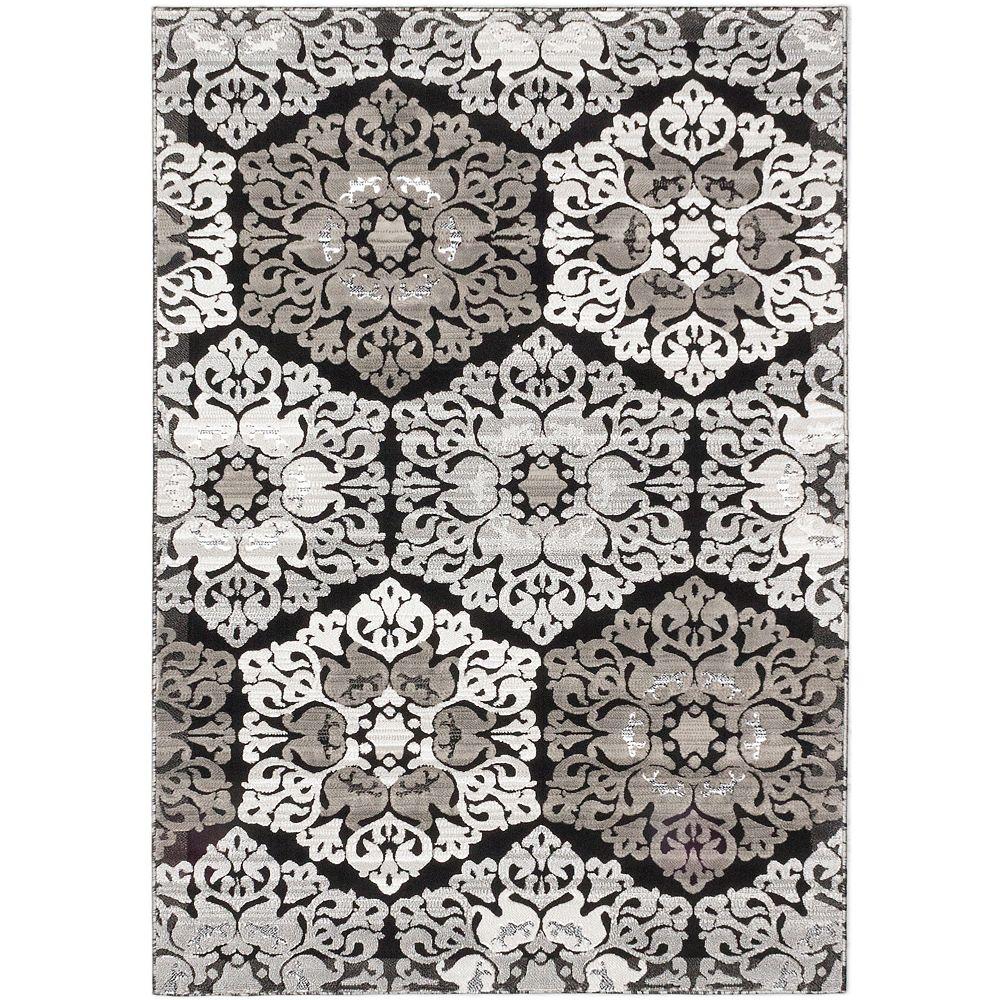 ECARPETGALLERY Carpette, 3 pi 11 po x 5 pi 3 po, rectangulaire, gris Crown