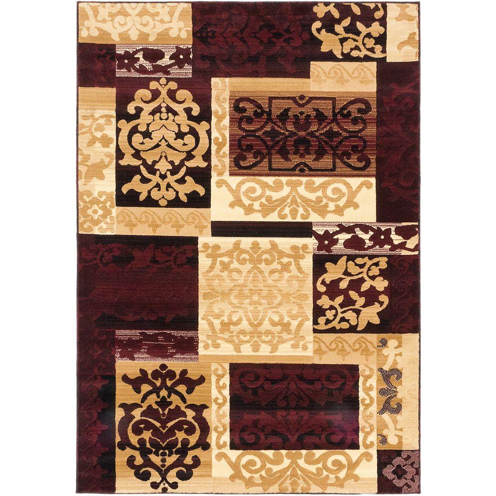 ECARPETGALLERY Carpette, 6 pi 7 po x 9 pi 6 po, rectangulaire, havane Crown