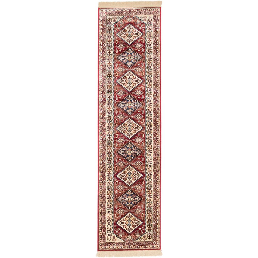 ECARPETGALLERY Carpette, 2 pi 6 po x 9 pi 10 po, rouge Shiravan