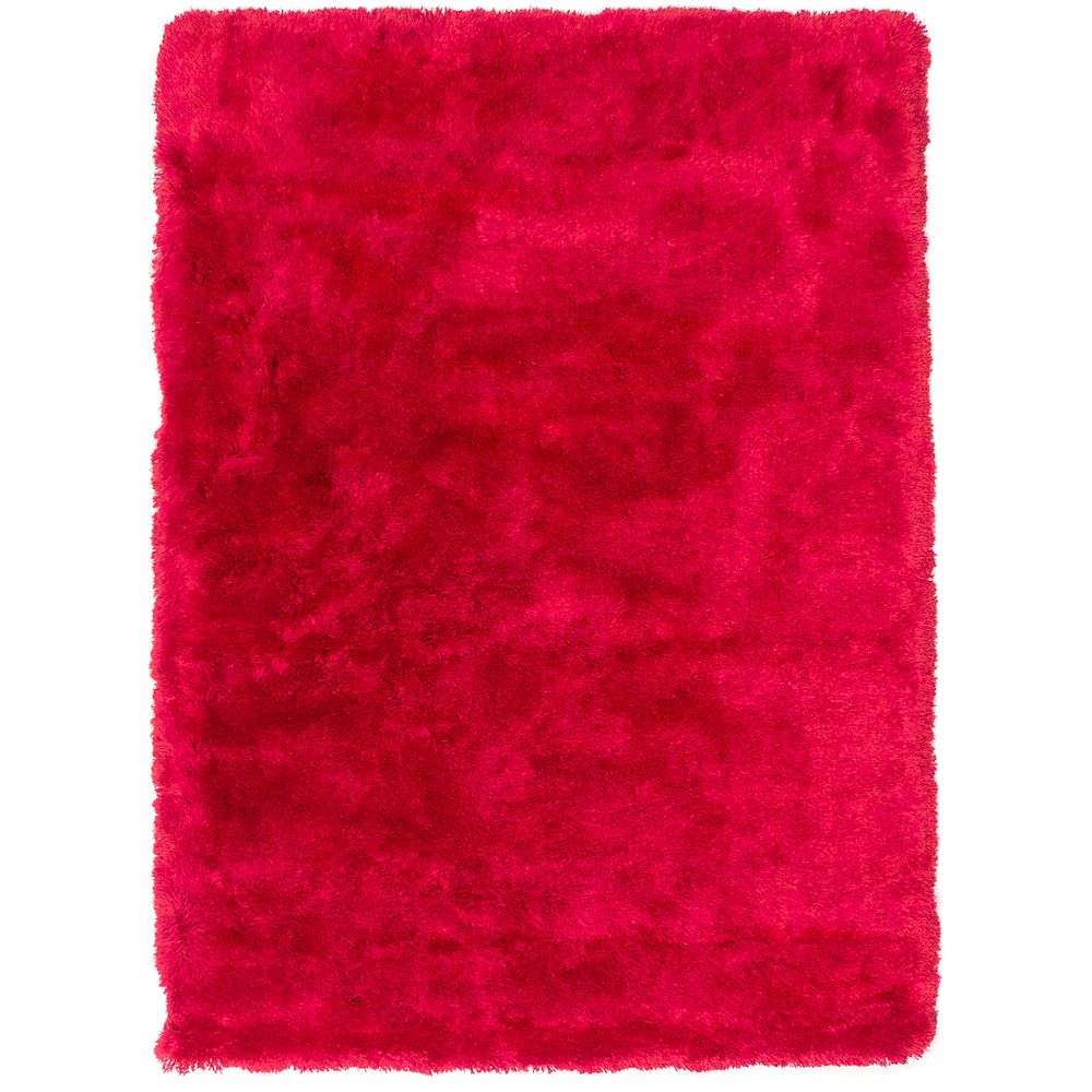 ECARPETGALLERY Carpette, 4 pi 9 po x 6 pi 5 po, rectangulaire, rouge Neon