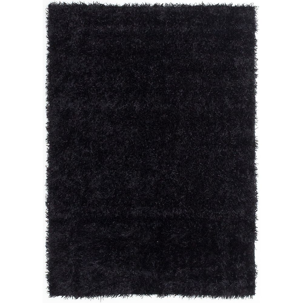 ECARPETGALLERY Neon Black 4 ft. 7-inch x 6 ft. 7-inch Rectangular Area Rug