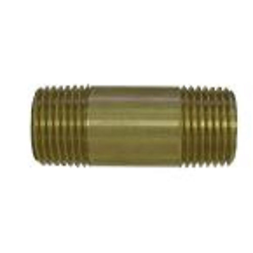 1/4 inch Lead-Free Brass Pipe Nipple