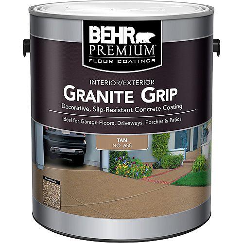 Behr Premium PREMIUM Granite Grip revêtement intérieur/extérieur pour béton en tan, 3,79 L