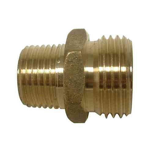 Lead Free 3/4 inch MGH x 3/4 inch MIP Tapped 1/2 inch FIP Inside Brass Adapter