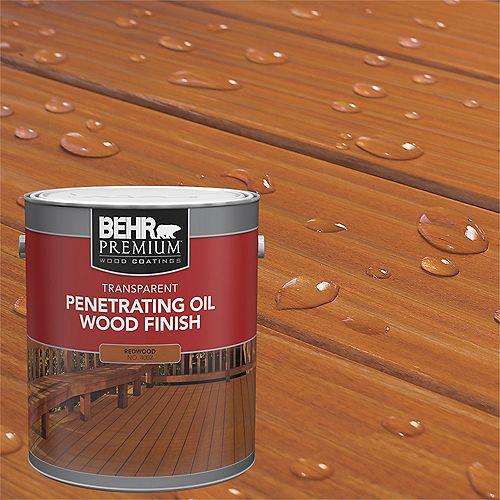 PREMIUM Transparent Penetrating Oil Wood Finish - Redwood No. 4002, 3.79L