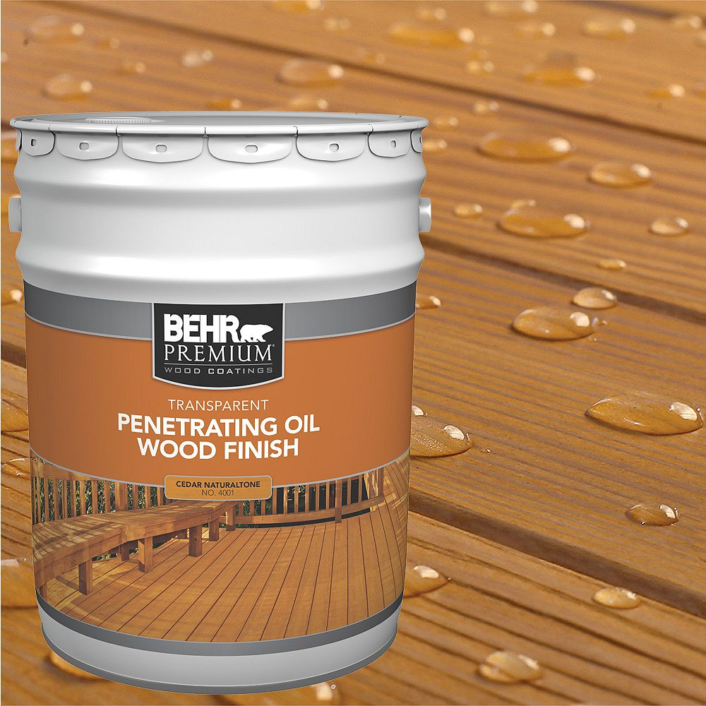 Behr Premium PREMIUM Transparent Penetrating Oil Wood Finish - Cedar Naturaltone No. 4001, 18.9L