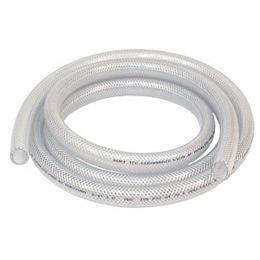 Braided Vinyl Tubing, 1 1/4 Inch Inside Diameter X 1 3/4 Inch Outside Diameter