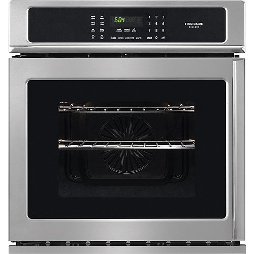 27-inch Single Electric Swing-Door Wall Oven with Convection in Smudge-Proof Stainless Steel