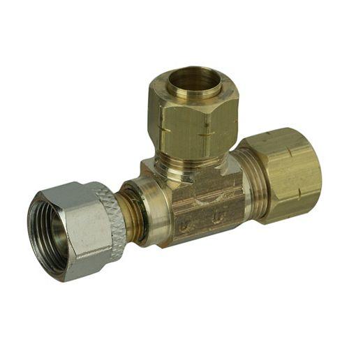 Tee 3/8 inch Female Compression X 3/8 inchX 3/8 inch Ander-Lign Adapt-A-Vlv 1/Bg