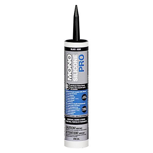 Silicone PRO Premium Silicone Rubber - Window & Door Sealant  - Black - 290 ml