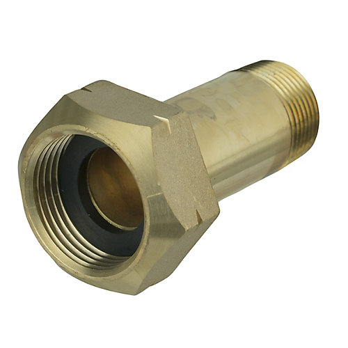 Water Meter Adaptor 1 inch Female Fitting X 3/4 inch Male Fitting Brs No Lead W/ Washers 1/Bg