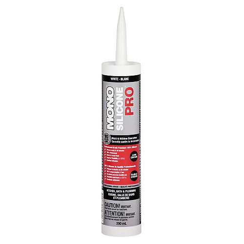 Silicone PRO Premium Silicone Rubber Kitchen & Bath Sealant  White - 290ml
