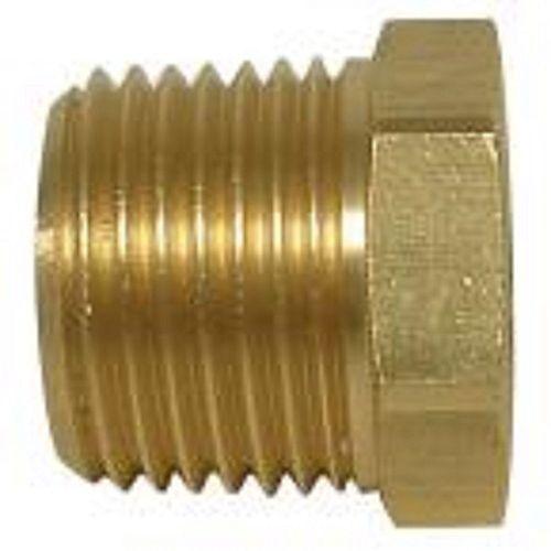 1/2 inch x 1/4 inch Brass MIP x FIP Hex Bushing