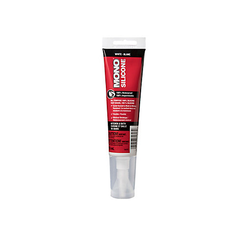 100% Silicone Kitchen & Bath Sealant - White - 83ml