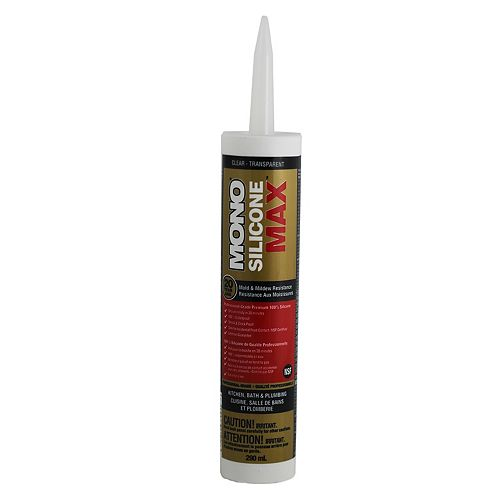 Silicone Max 290mL Clear/Transparent Kitchen and Bath Sealant