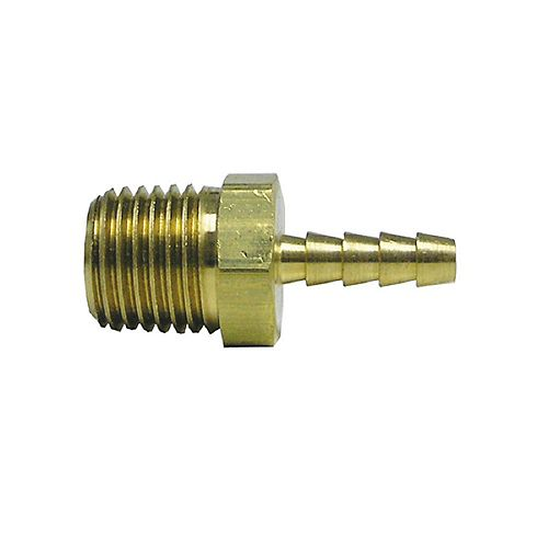 Sioux Chief 1/2 inch x 3/8 inch Lead-Free Brass Barb x MIP Adapter