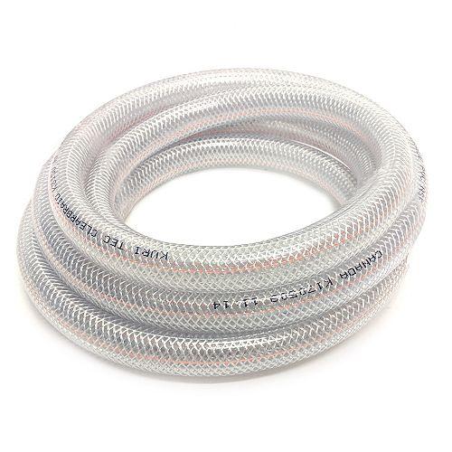 CANADA TUBING Braided Vinyl Tubing, 1/2 Inch Inside Diameter X 3/4 Inch Outside Diameter X 10Ft Coil