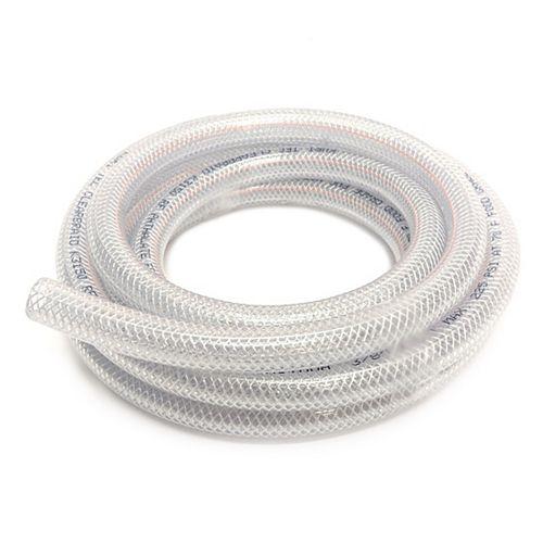 """CANADA TUBING Tube en Vinyle Tressé diamètre intérieur 3/8"""" x diamètre extérieur 5/8""""x bobine de 10 pi"""