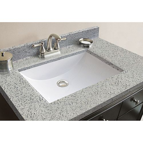 31-Inch W x 22-Inch D Granite Vanity Top in Napoli with Wave Bowl