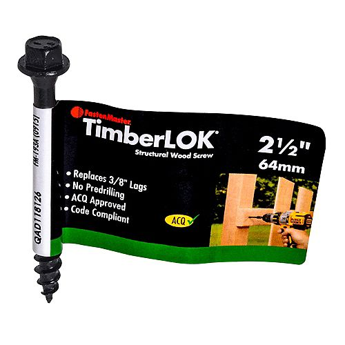 2-1/2-inch Hex Washer Head TimberLOK(R) Structural Wood Screw in Black - 1pc