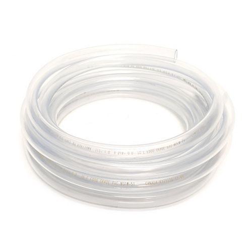 """Tube de Vinyle Clair diamètre intérieur 1/2""""X diamètre extérieur 5/8""""x bobine X 20 pi"""