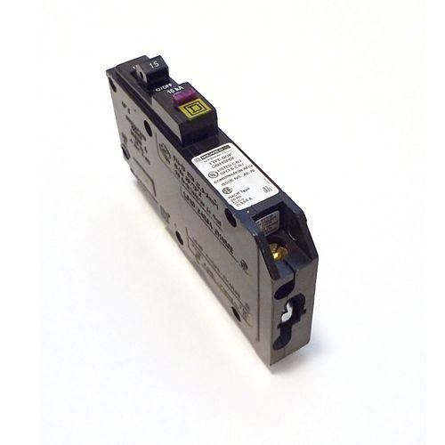 Disjoncteur à neutre enfichable double fonction AFI/GFI unipolaire de 15 A Square D