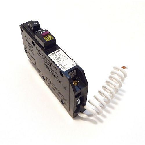 Disjoncteur à fil spiralé double fonction AFI/GFI unipolaire de 15 A Square D