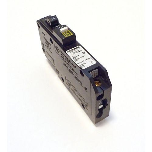 Disjoncteur à neutre enfichable anti-arcs combiné unipolaire de 15 A Square D