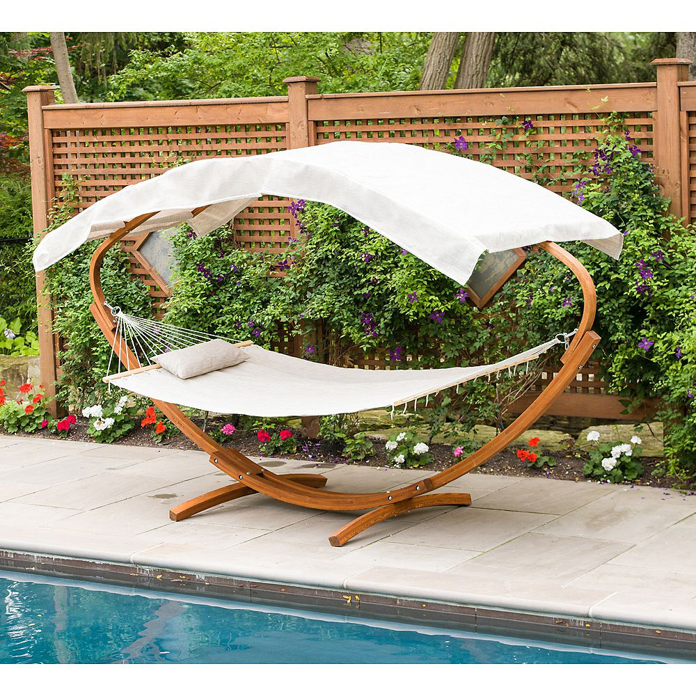 Leisure Season Hammock Stand with Hammock and Canopy