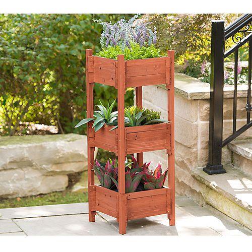 Jardinière à trois niveaux