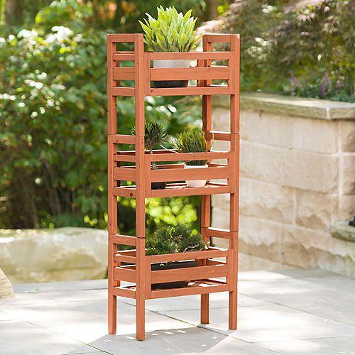Jardinière d'empilage en bois