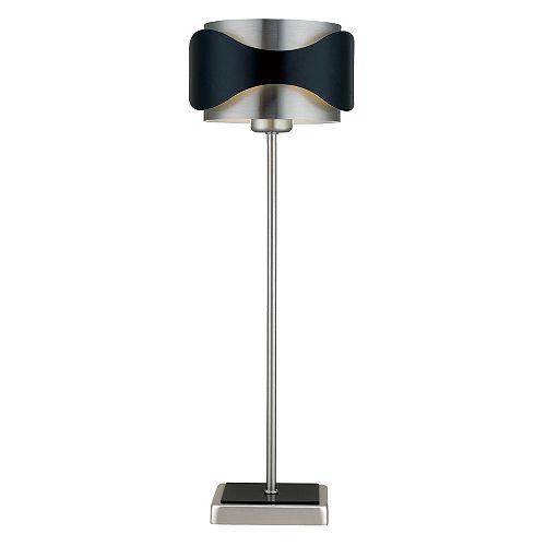 Catwalk Lampe de Table 1L, Fini Nickel Mat et Noir