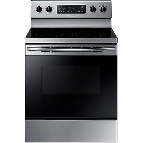 5.9 cu.ft. Free-Standing Electric Range with Wide-View Window in Stainless Steel