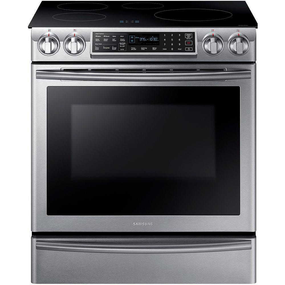 Samsung 5.8 cu.ft. Induction Range with Self-Cleaning Convection Oven and Wi-Fi in Stainless Steel