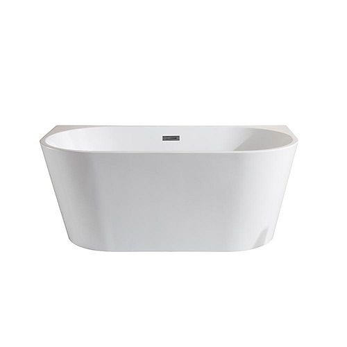 5 ft. Manchester White Acrylic Seamless Freestanding Bathtub