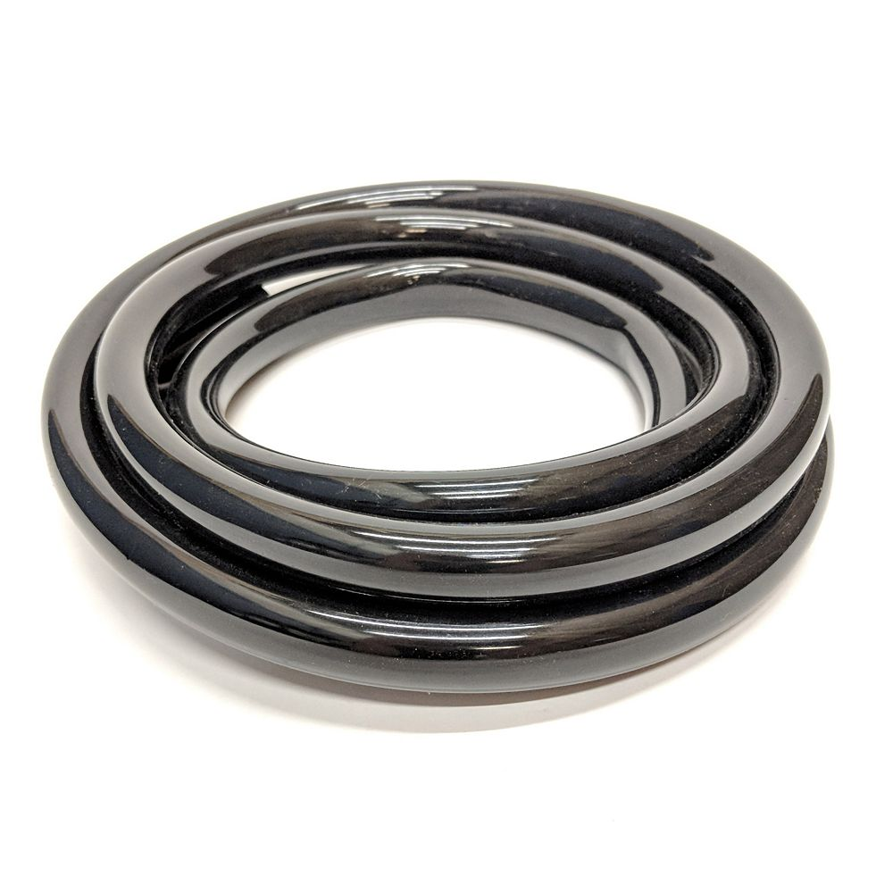 CANADA TUBING Black Vinyl Tubing, 3/4 Inch Inside Diameter X 1 Inch Outside Diameter X 10 Ft Coil